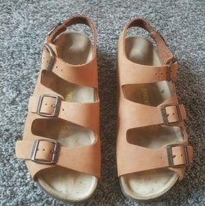 Birkenstock Sandals Women's 10 Light Brown